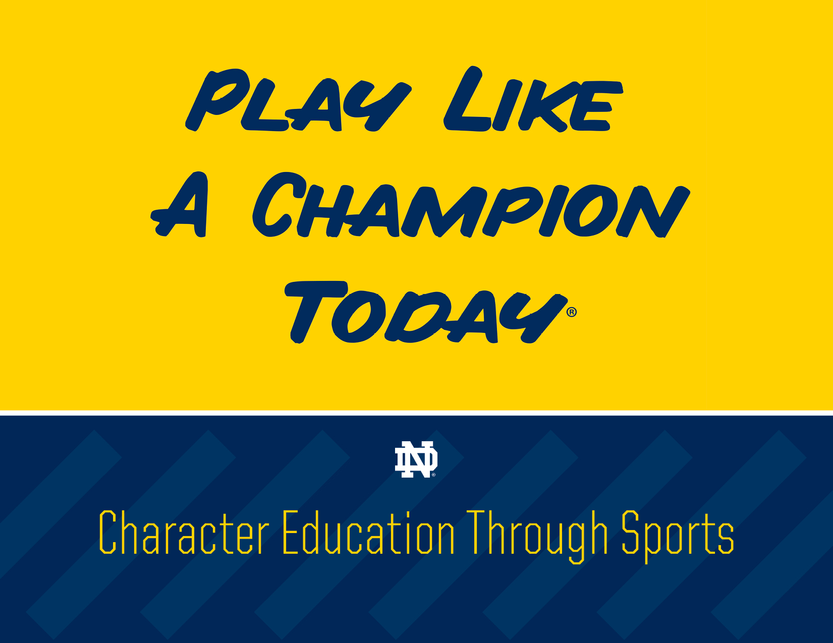 Play Like A Champion Today Bishop O Connell High School