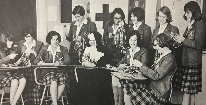 1966 Yearbook Photo of Red Cross club